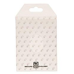 Identity Stronghold Secure Badge Holder Flex, White, Pack of 10 (IDSH3004-001B-PACK10-wht)