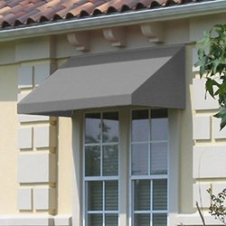 3 ft. New Yorker Window/Entry Awning 44 in. H x 48 in. D - Gray