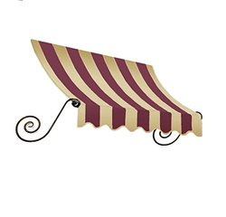 "Awntech? 5' Charleston? Window/Entry Awning, 18"" x 36"", Burgundy/Tan"