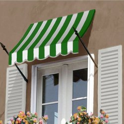 Awntech 3-Feet New Orleans Awning, 56-Inch Height by 32-Inch Diameter, Forest Green/White
