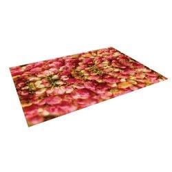 Kess Akwaflorell Close to You Floor Mat - Red/Orange - Size: 5' x 7'