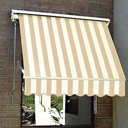 "Awntech 5Ft Mesa Window Retractable Awning - Linen/White - Size: 24"" x 24"""