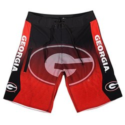 Klew Boy's NCAA Georgia Bulldogs Gradient Board Shorts - Red - Size: S