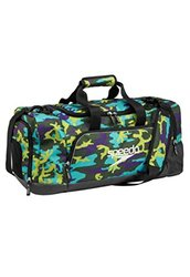 Speedo Teamster Duffle Bag, Multi Green Camo/Black, 38L