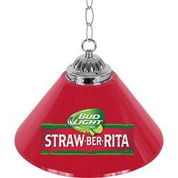 Bud Light Straw-Ber-Rita Single Shade Bar Lamp 14 red