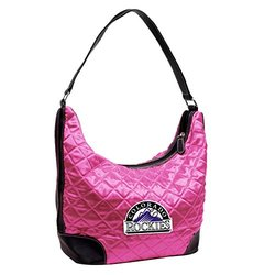 MLB Colorado Rockies Pink Quilted Hobo