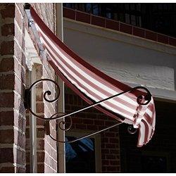 Awntech 4-Feet Charleston Window/Entry Awning 44 by 36-Inch - Burgundy/Tan