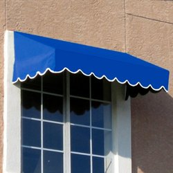 "Awntech? 7' San Francisco? Window/Entry Awning, 16"" x 30"", Bright Blue"
