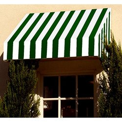 Awntech 3-Feet New Yorker Window/Entry Awning, 56-Inch Height by 36-Inch Diameter, Forest Green/White