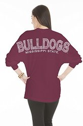 NCAA Mississippi State Bulldogs Women's Jersey - Maroon - Size: XS