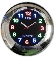 Creative Motion LED Clock with Chrome Frame, 12-Inch