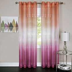 Rainbow - Single Grommet Panel - 52 x 84 Pink