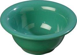 "Carlisle 3303809 Sierrus Melamine Rimmed Nappie Bowl, 5.5"", Meadow Green (Pack of 24)"