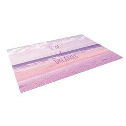 """Kess InHouse Iris Lehnhardt """"I'm a Dreamer"""" Beach Pink Outdoor Floor Mat/Rug, 5 by 7-Feet"""