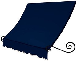 5 ft. Charleston Window Awning (31 in. H x 24 in. D) in Navy