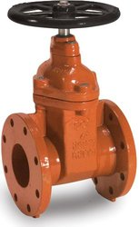 "Smith-Cooper International 10FW Series Iron Gate Valve with Hand-Wheel, Non-Rising Stem, Inline, 2-1/2"" Flanged"