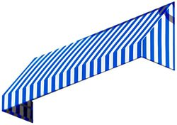 """Awntech 3-Feet New Yorker Window/Entry Awning, 44"""" by 48"""" - Blue/White"""