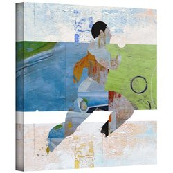 """ArtWall """"Runner"""" Gallery Wrapped Canvas Art By Greg Simanson, 24"""" x 24"""""""