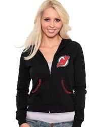 NHL New Jersey Devils Zip Hoodie, Extra Large, Black