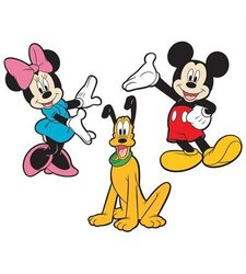RoomMates RMK2379FLT Mickey and Friends Foam Characters Wall Decals