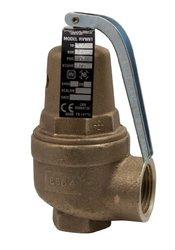 "Apollo Valve 10-600 Series Bronze Safety Relief Valve, ASME Hot Water, 60 psi Set Pressure, 3/4"" x 1"" NPT Female"