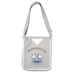 Little Earth Women's NHL Edmonton Oilers Hoodie Crossbody Purse - Gray