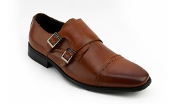 Vintage Foundry Men's Mock Monk Strap Dress Shoes - Black - Size: 10