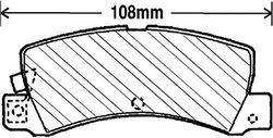 Beck Arnley  082-1487  Premium Brake Pads