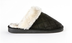 Sociology Women's Quilted Scuff Slipper - Black - Size: 8