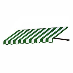 """Awntech 6-Feet Dallas Retro Awning for Low Eaves 18"""" by 36"""" - Green/White"""