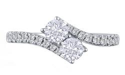 Golden Moon Women's 2.5CT Gemstone Eternal Ring - White Topaz - Size: 8