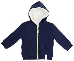 Giggle Baby Boys' Hoodie with Fur Lining - Blue - Size: 6-12 Months