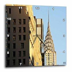 "Kike Calvo New York City Contructions and Skyscrap Wall Clock - 10"" X 10"""