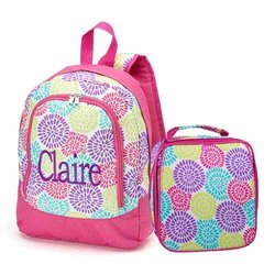 aBaby Kids Bloom Preschool Name Sophia Backpack & Lunch Bag Combo - Multi