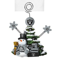 "Boelter NFL Oakland Raiders Tree Photo Holder - Green - Size: 5"" Tall"