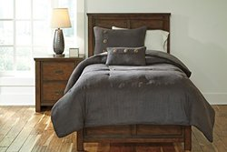 Signature Design by Ashley Token Bedding Set - Steel - Size: Twin