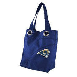 NFL St. Louis Rams Women's Colo Sheen Tote Purse, Navy