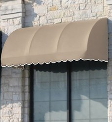 "Awntech 6' New Yorker Window/Entry Awning 18"" x 36"" - Gray/White"