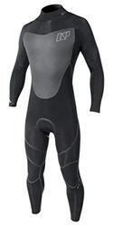 NP Surf Mission Full Suit Back Zip 4/3mm Wetsuit, Black, Small
