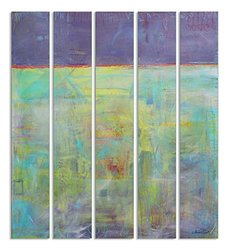 Stupell Industries Abstract Oils Piece Wall Plaque Set of 5