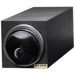 San Jamar EZ Fit Countertop 1 Slot Lid Dispenser Cabinet - Black