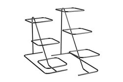 Bon Chef 7011BLK Condiment Stand Fits 6 #9110 Bowls, 2 Part, Black