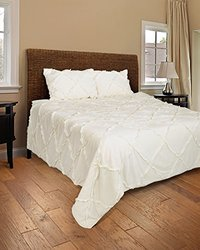 Rizzy Home Posh 2-Piece Quilted Bed Set - Ivory - Size: Twin