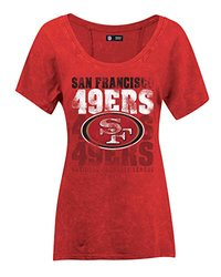 NFL San Francisco 49ers Women's Short Sleeve  Tee -  Red - Size: X-Large