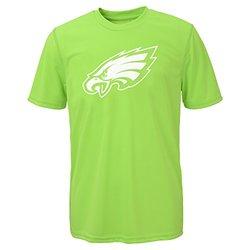 NFL Philadelphia Eagles Boys Performance Tee - Neon Green - SIze: X-Large