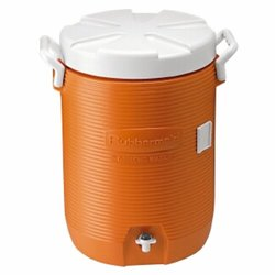 Rubbermaid 20 Qt Crack Resistant Water Cooler - Orange