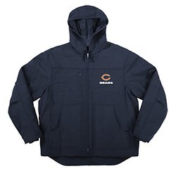 NFL Chicago Bears Men's Fleeced Lined Hooded Jacket - Navy - Size: XL