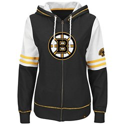 NHL Boston Bruins Women's Turnbuckle Fleece, Black/White/Yellow Gold, Small