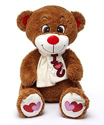 "AIR 32"" Stuffed Plush Bear, Dark Brown"