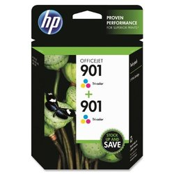 HP CZ076FN140 HP 901 Ink Cartridge, Tri-Color 2 Pack